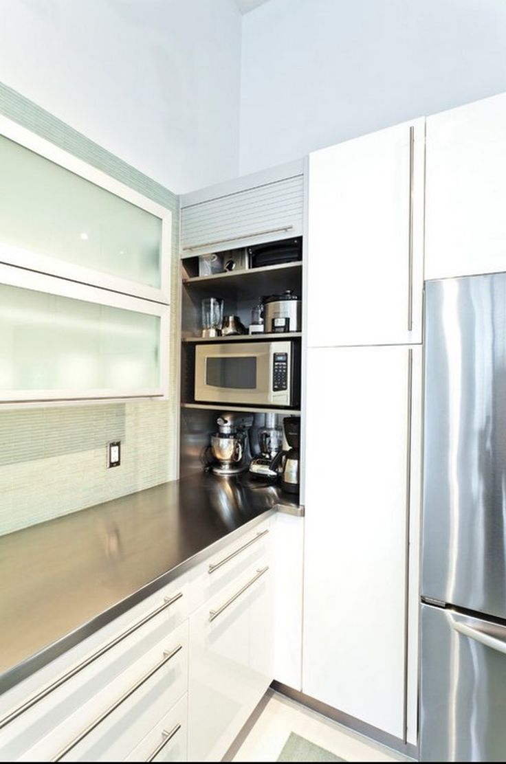 Kitchen small appliance garage - Modern Appliance Cabinet With Pull Out Shelf Kitchen Renovation Pinterest Appliance Garage Shelves And Modern