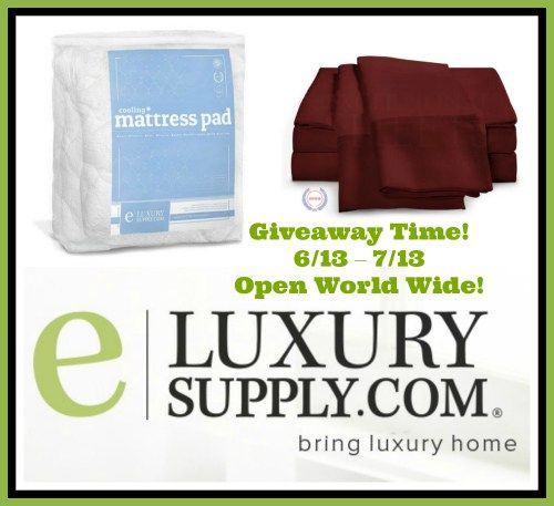 This summer you can cool down and sleep in the lap of luxury with a Cooling Mattress Pad & 400 Thread Count Egyptian Cotton Sheets from eLuxury Supply.