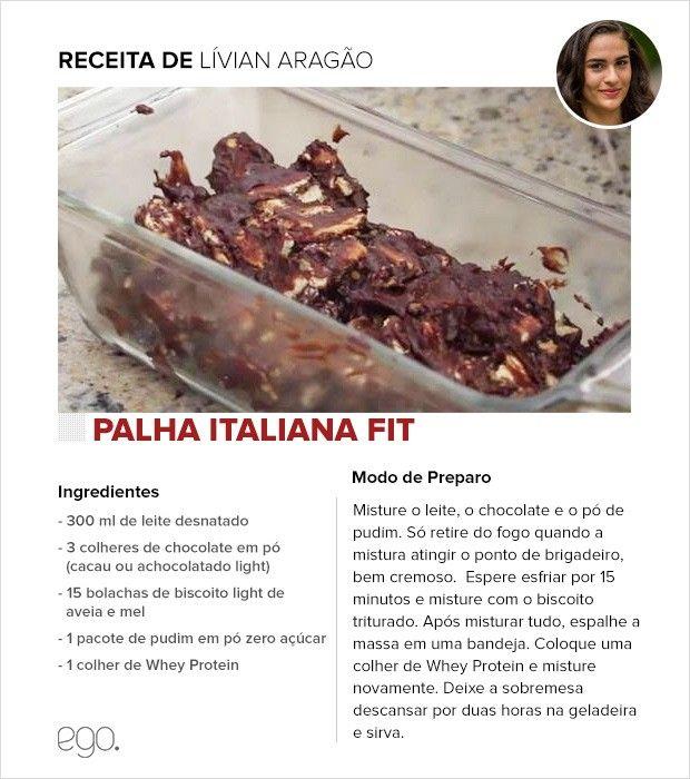 Palha italiana fit de Lívian Aragão (Foto: EGO)