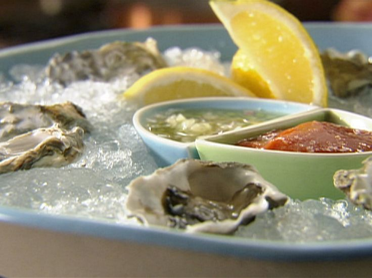 Raw Oysters on the Half Shell with Cucumber Mignonette from FoodNetwork.com