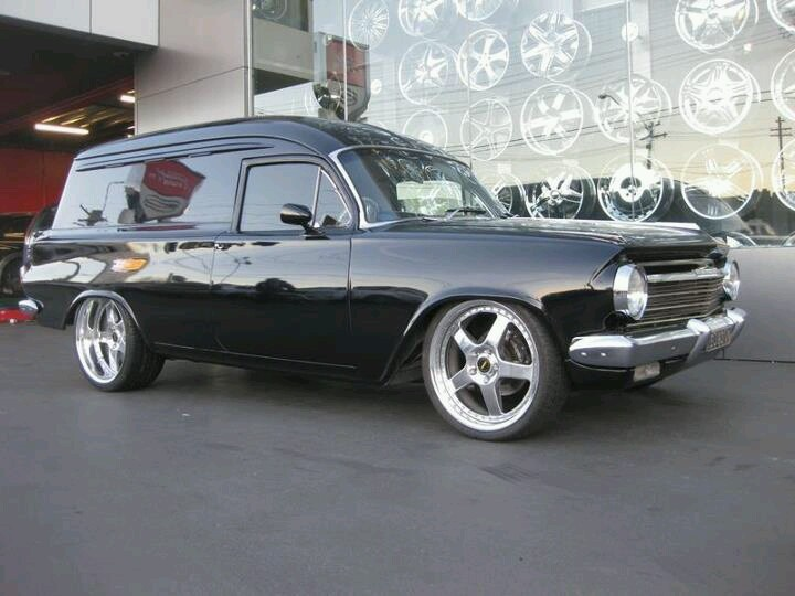 EH Holden. Panel Van  This vehicle was one of the first cars to go retro with the 5ltr Fuel Injected Commodore engines in it and it looked like it was there from factory