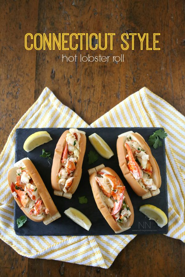 Connecticut Style Hot Lobster Roll with Cilantro Lemon Butter