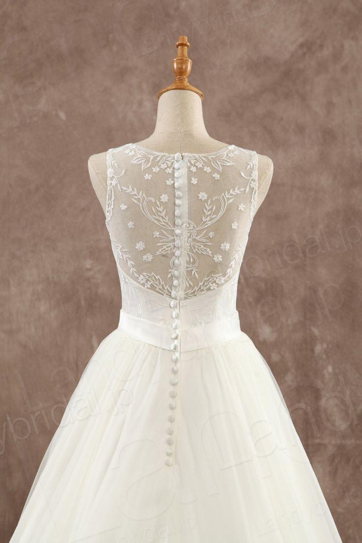 ウェディングドレス Vネック Aライン 刺繍 ビーディング 花嫁ドレス B14A0067 価格 ¥56,700