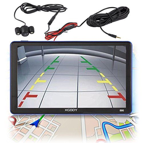 Xgody 886BT 7 Inch Capacitive Touchscreen SAT NAV Portable Car GPS Navigation Bluetooth Free Lifetime Map Updates with Rearview Backup Camera. For product info go to:  https://www.caraccessoriesonlinemarket.com/xgody-886bt-7-inch-capacitive-touchscreen-sat-nav-portable-car-gps-navigation-bluetooth-free-lifetime-map-updates-with-rearview-backup-camera/