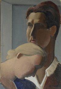 Le peintre et sa femme, 1927  Mario Tozzi