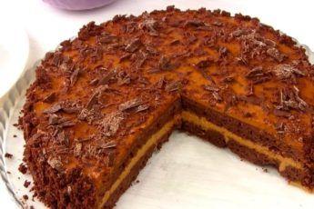 Шоколадный торт со сгущенкой на скорую руку