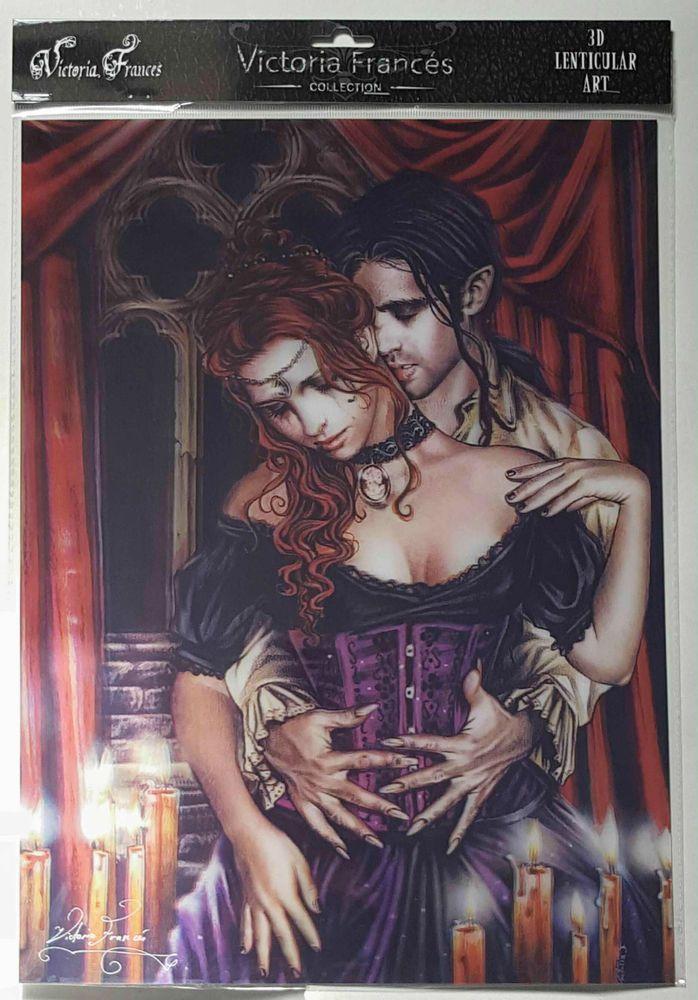 Licensed 3D Lenticular Victoria Frances ABRAZO EN ROJOS Vampire Gothic Art