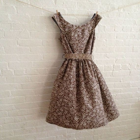 softer brown Tea Dress on Sale by sohomode on Etsy