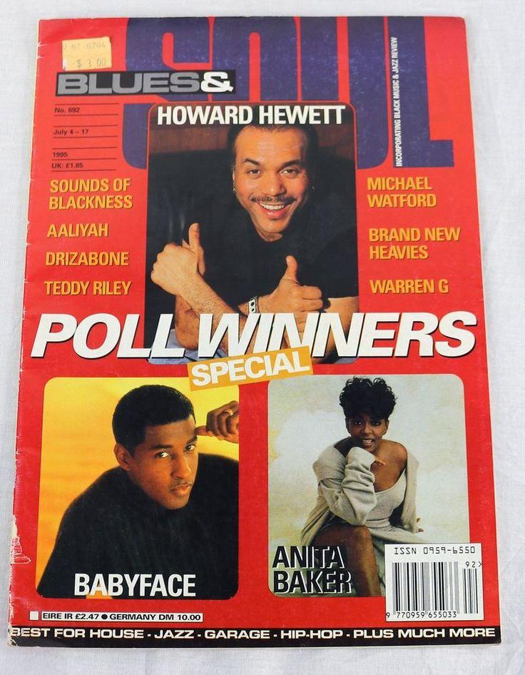Blues & Soul Magazine July 1996 Babyface Anita Baker Aaliyah Warren G Drizabone