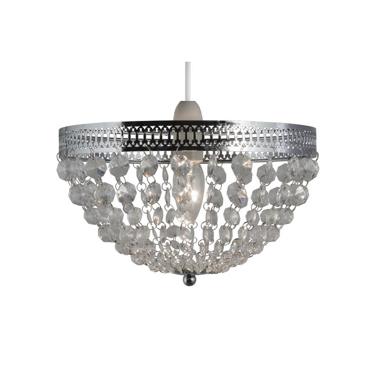 Make your home sparkle with this wilko beaded uplighter in chrome light lights