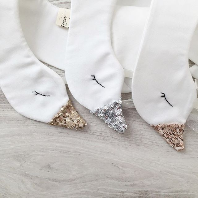 Gold, Silver and Rose Gold sparkling sequin Swan collars are Just the most adorable little accessories for your little one ! Have you seen our unicorns ?? Magical little creations! Last hours with free Shipping! XMASGIFTS