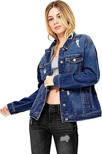 "Traditional denim jacket with a worn-in distressing feel and an oversized boyfriend fit. Patch pockets on the front and button up closure. No stretch in denim.   	 		 			 				 					Famous Words of Inspiration...""Happiness depends more on the inward disposition of mind than on outward...  More details at https://jackets-lovers.bestselleroutlets.com/ladies-coats-jackets-vests/denim-jackets/product-review-for-wax-womens-oversize-fit-boyfriend-jean-jacket/"