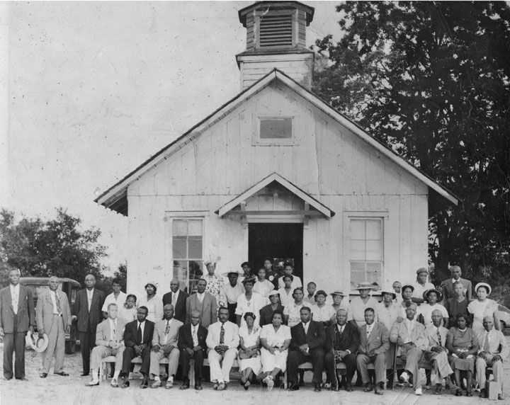 Concord Baptist Church In The Late 1940s Or Early 1950s