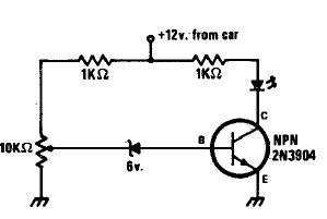 Low State Car Battery Indicator Circuit Diagram