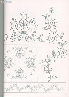 flores para bordados sencillos
