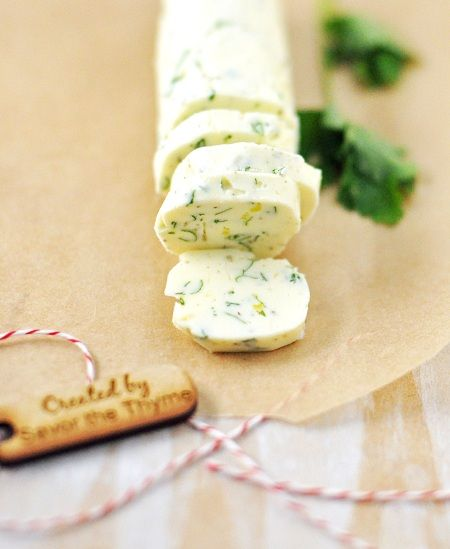 Savory Compound Butter Recipe with Sage, Rosemary, Thyme & Lemon.  Easy Peasy and oh so DELISH!