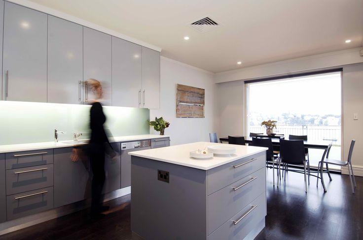 Kitchen with water views. Brooke Aitken Design.