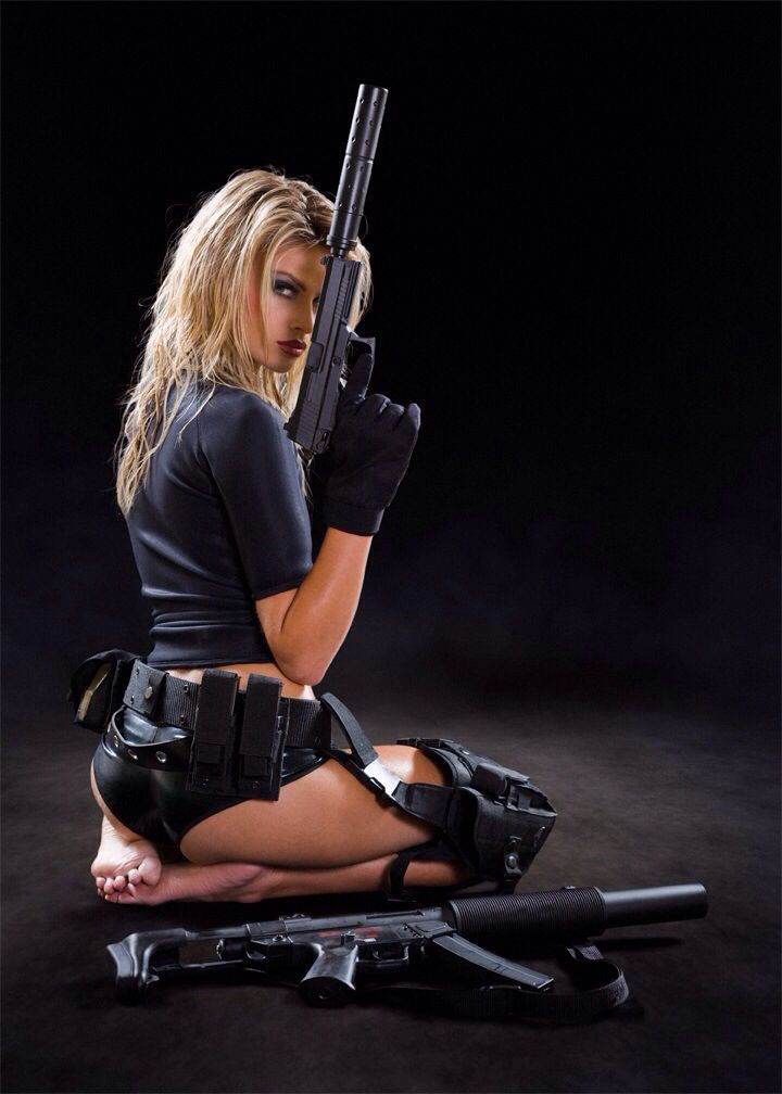 One of a series with model Heidi Fahrenbach as a USN Navy Seal