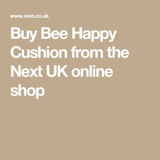 Buy Bee Happy Cushion from the Next UK online shop