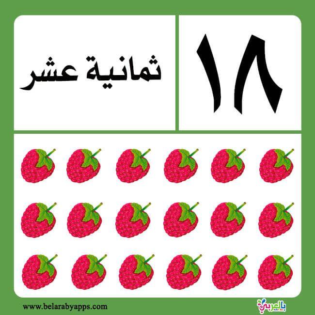 تعليم الارقام العربية للاطفال بطاقات الارقام بالحروف جاهزة للطباعة بالعربي نتعلم Preschool Math Worksheets Math Worksheets Kindergarten Math Worksheets