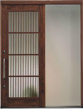 新築やリフォームにおすすめ。木製の玄関引き戸。日本製です。 #リフォーム