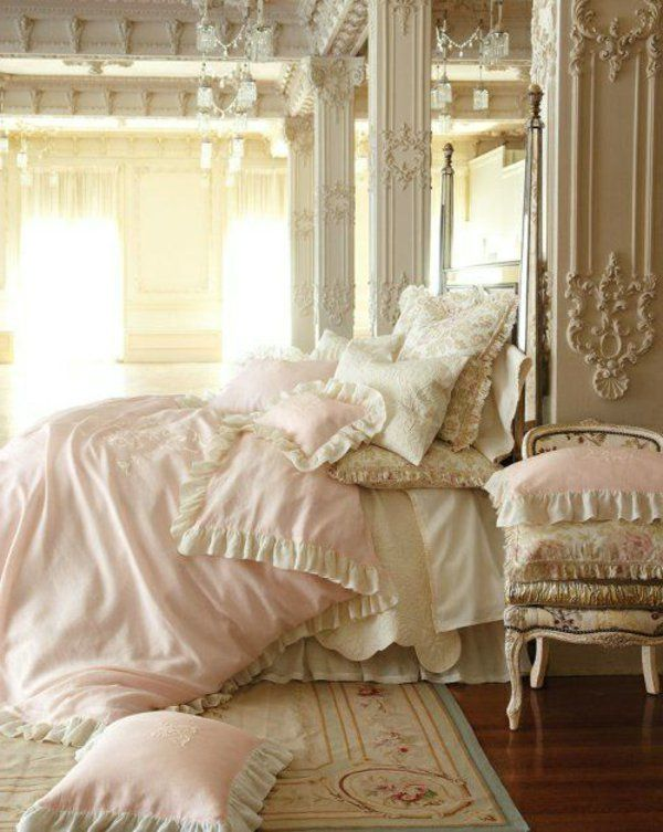Schlafzimmer Dekoration Bett Prächtig Kissen. YurtsBedShabby Chic ...