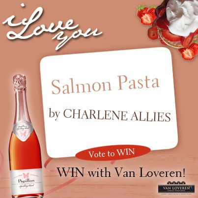 Creamy pasta says, I love you! Try this one tonight! See the full recipe here - http://on.fb.me/1lGgcUq #vanloveren #monthoflove #recipe