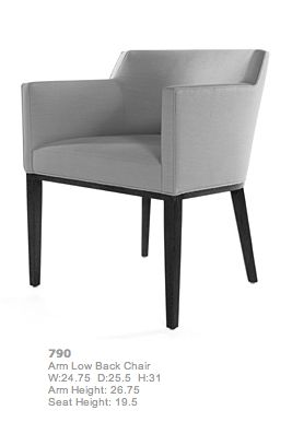 Bright Chair Company Eno Arm Low Back Low Back Dining