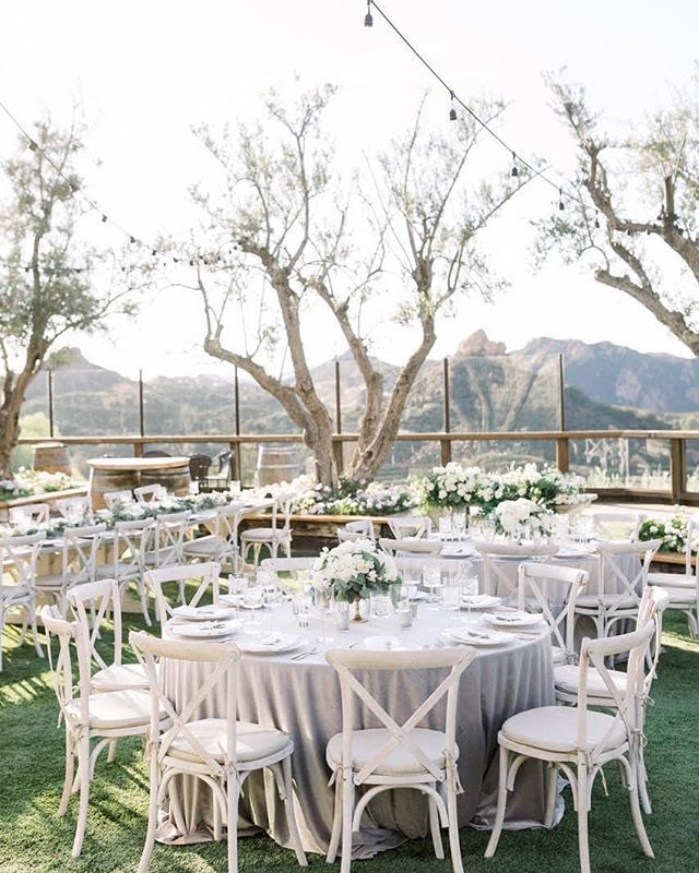 Ourwhite Wash Vineyard Chairs Were Perfect For This Outdoor Table Setting Photography Lucasrossiphoto Outdoor Table Settings Event Rental Farm Wedding