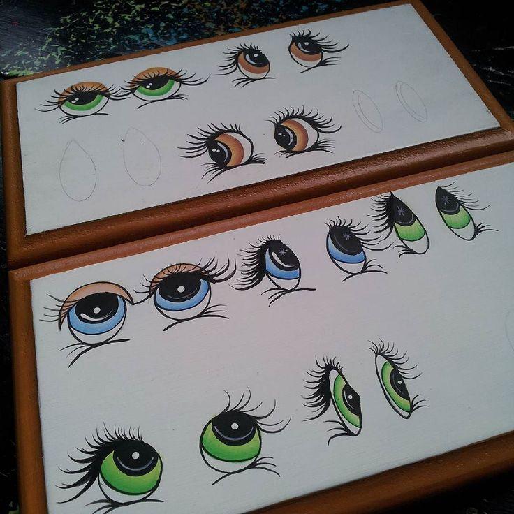 Practicando y perfeccionando #ojos #eyes #yeux #olhos  #pintura #pinturacountry…