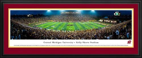 Central Michigan University Panoramic Picture Deluxe Matted Frame