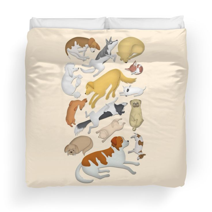 """""""Sleeping Dog 101"""" on duvet cover  Now you don't sleep alone anymore... :)"""