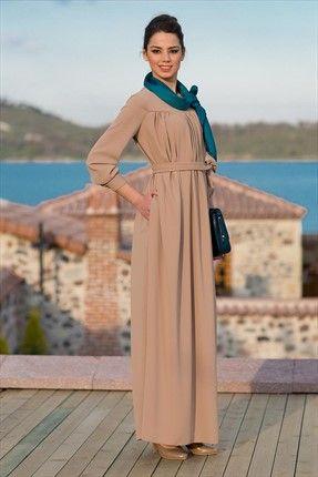 Kuaybe Gider - Kadın Tekstil - Camel Rumba Elbise 2020.21 %31 indirimle 179,99TL ile Trendyol da