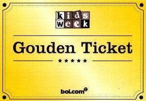 Bol.com Kinderboekenweekfeest 2015 gouden ticket winactie waardebon tien euro flyer wincode