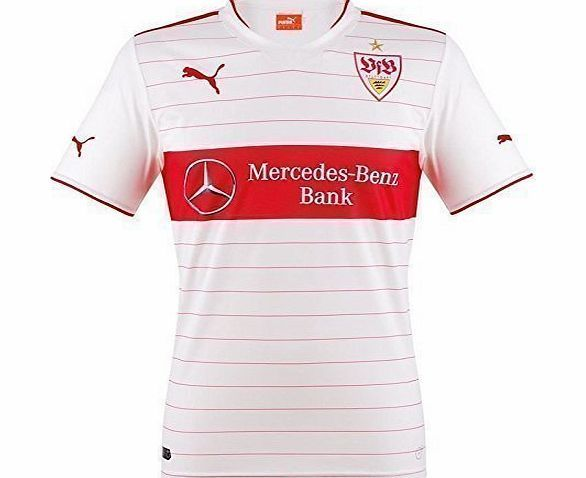 Puma Mens Replica Football Jersey with Sponsors Logo VFB Stuttgart Home Kit white-team regal red Size:XL Brand new, official <b>VFB Stuttgart Home Shirt</b>for the 2013-14 Bundesliga season. This authentic football kit is available in adult sizes S, M, (Barcode EAN = 4053057986250) http://www.comparestoreprices.co.uk/football-shirts/puma-mens-replica-football-jersey-with-sponsors-logo-vfb-stuttgart-home-kit-white-team-regal-red-sizexl.asp