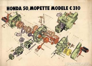 honda 50 c310 310 moped rare !