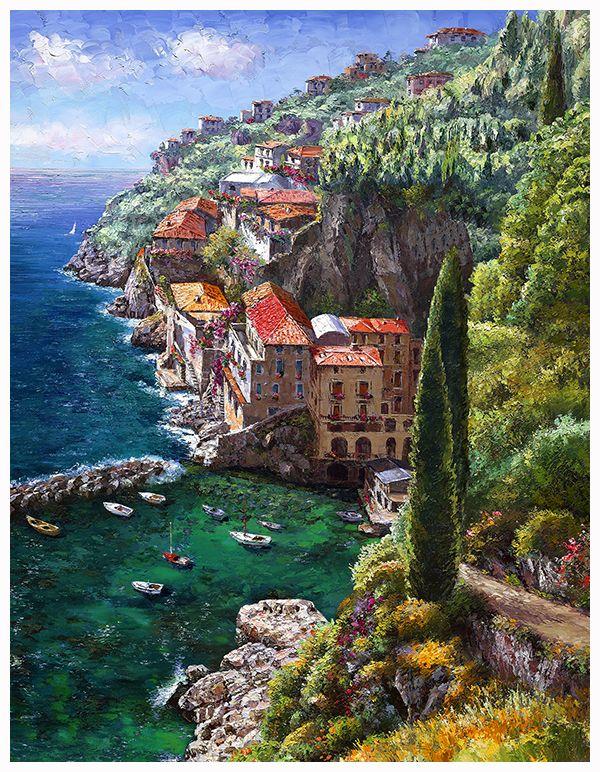 SAM PARK - ANDREA DE LUCA. Italy. Limited Edition Giclee on canvas.