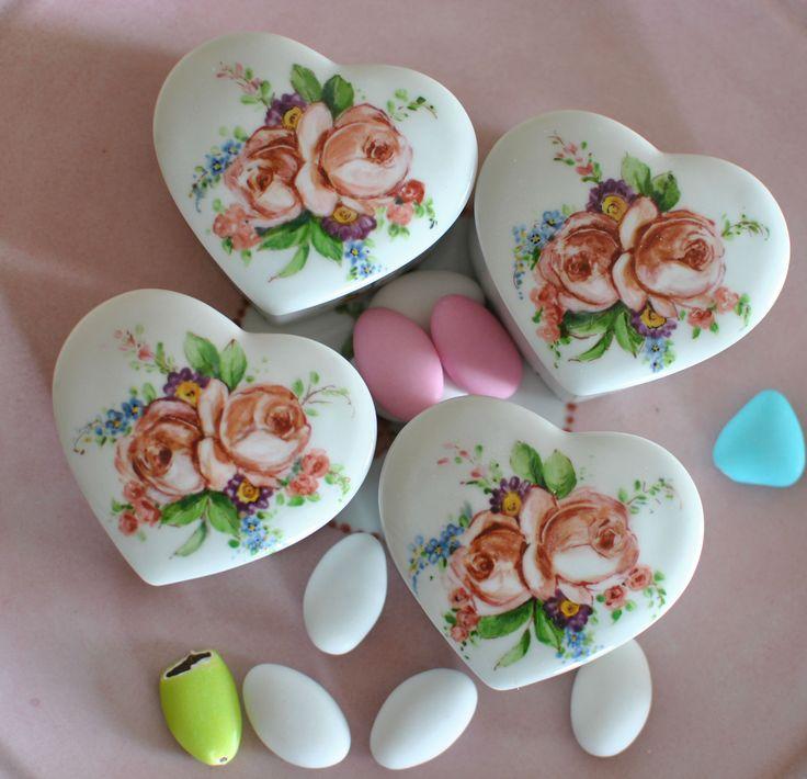 bomboniere scatoline con rose
