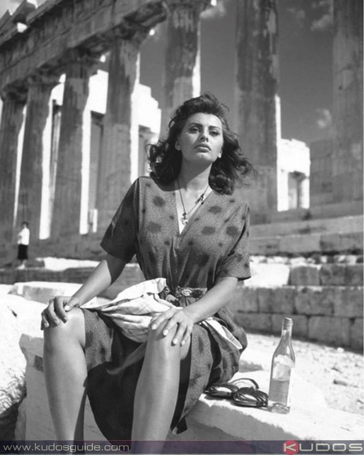 Sophia Loren in Athens Greece at the Acropolis for Boy on A Dolphin. #Kudos…