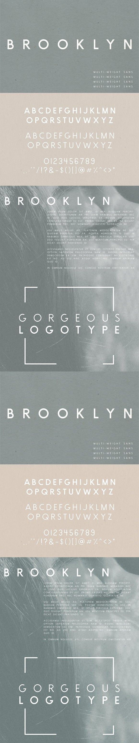 Brooklyn | Two Weight Font Family. Sans Serif Fonts. $12.00
