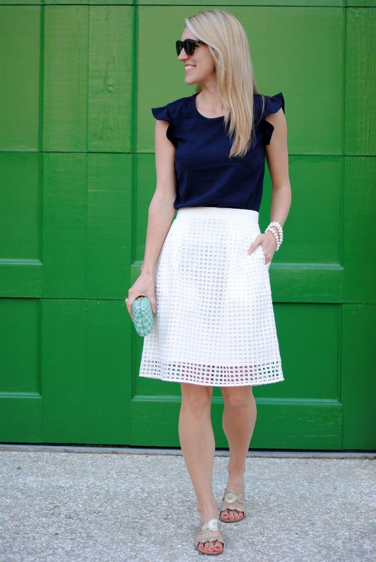 Celine Sunglasses White Skirt