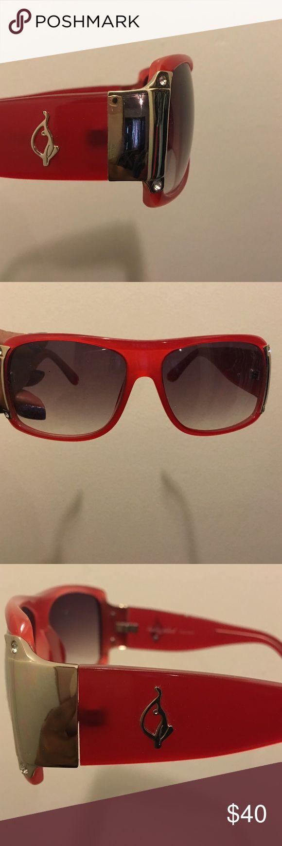 baby phat Women`s 2045 Rectangular Sunglasses,Black Frame/Black Lens ...