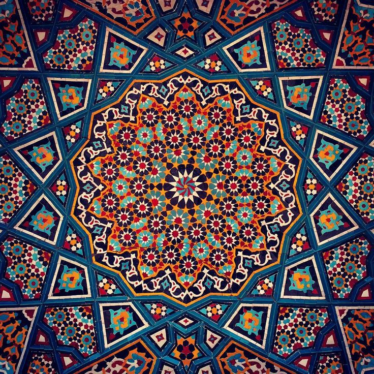 Persian Patterns: Iranian Tile Arts. Qom. Iran