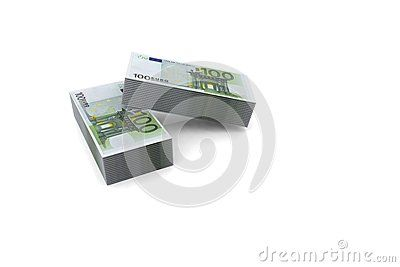 #3d #euro #stack #money