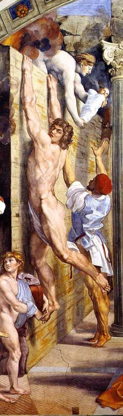 Raphael, Fire in the Borgo, 1514, Vatican
