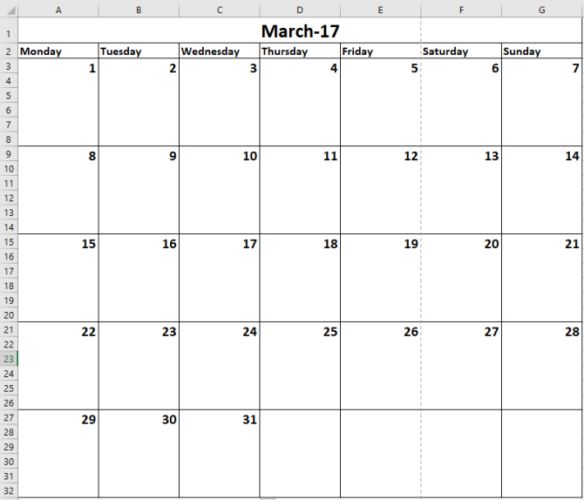 You'll always need a calendar. We show you how to create your own custom template for free with Microsoft Excel.