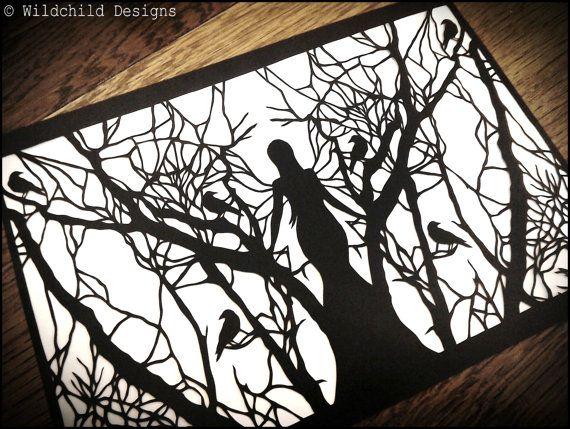 600 besten papercutting dreams bilder auf pinterest - Gothic adventskalender ...
