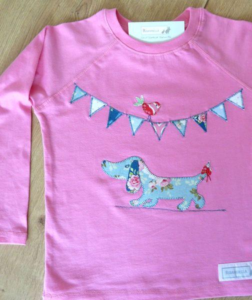 """Langarmshirts - Langarmshirt """"Hundemädchen"""" pink - ein Designerstück von…"""