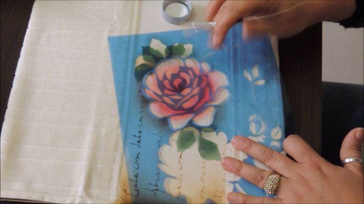 Rosas com Stencil Litoarte