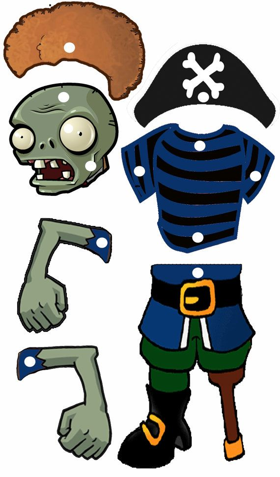Now you can bring your zombie to life with this creative craft for the kids! This is an INSTANT DOWNLOAD for PLANTS VS ZOMBIES DIY Zombies.